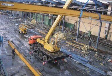 Демонтаж промышленных металлоконструкций